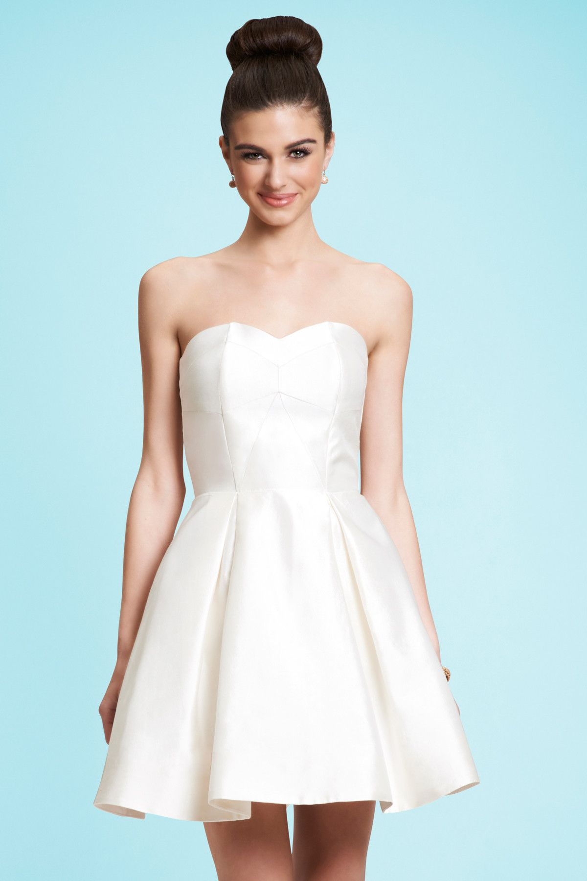 Kirribilla — VIOLET dress - I Do! #shortweddingdress #whitedress ...