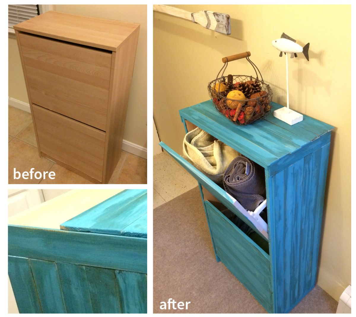 Entryway storage (larger than other hacked shoe cabinet); Bissa ...
