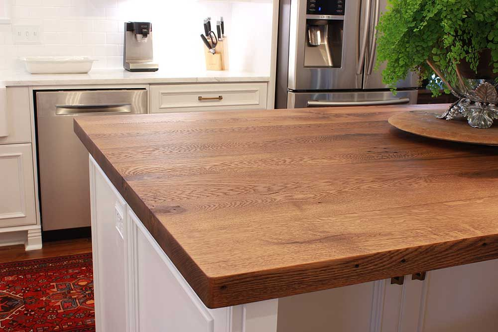Reclaimed Oak Kitchen Island Top Wood Island Countertop Wood