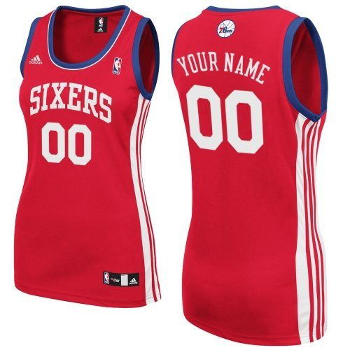 Customized NBA Swingman Philadelphia 76ers Road Tailored Fit Design Red  Adidas Women Jerseys 07c7e7c89