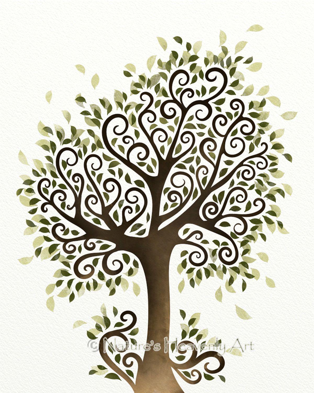 use as a stencil  Whimsical Tree Art Print 5a83f33bd1