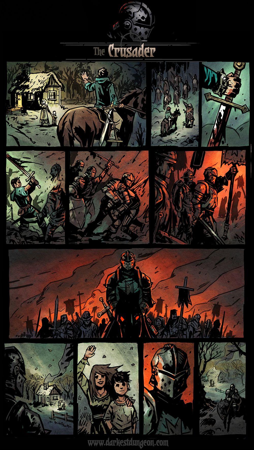 Darkest Dungeon Presents The Crusader Darkest Dungeon Darkest Dungeon Art Darkest Dungeon Comic