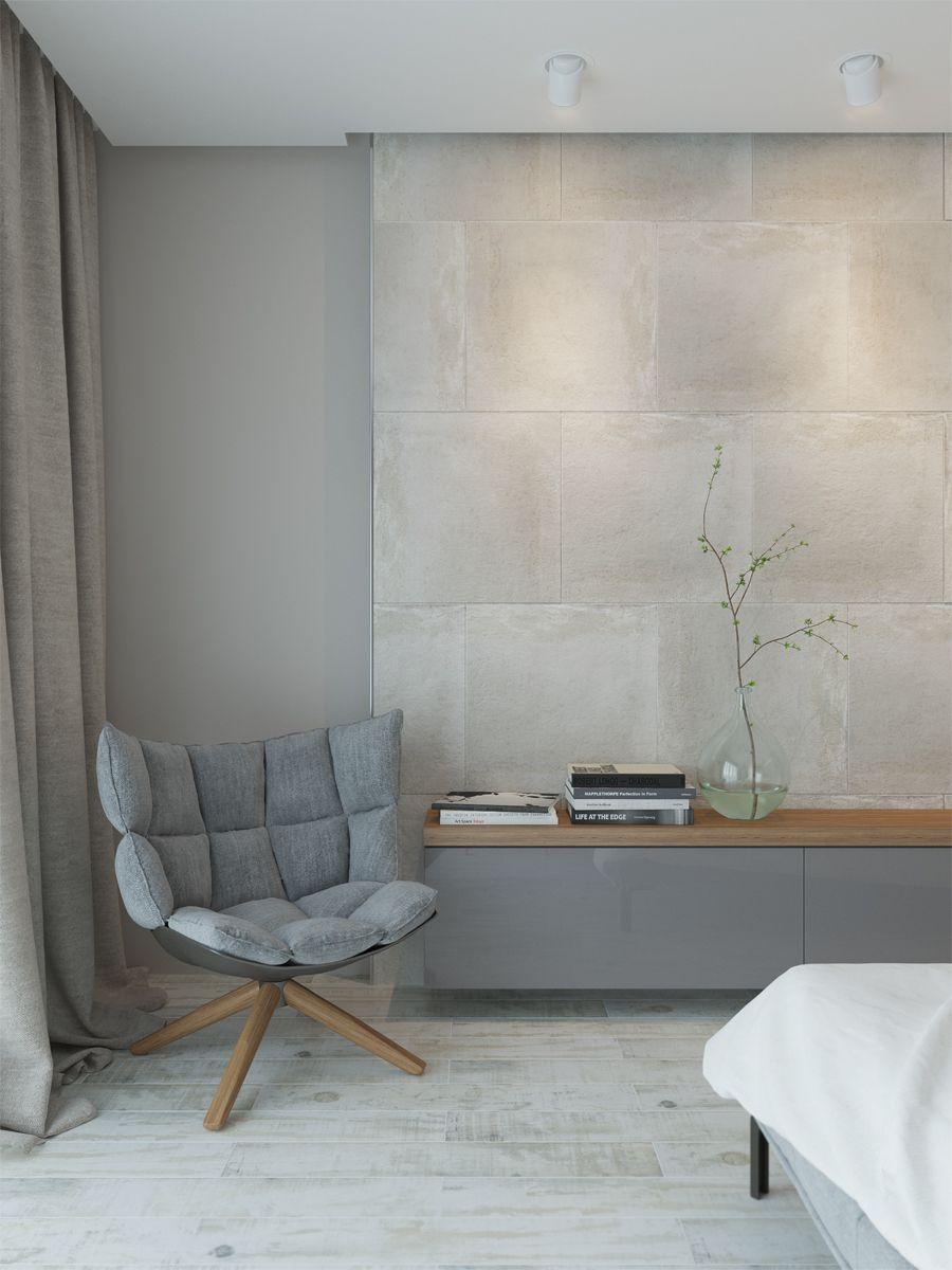 master bedroom design in grey tones
