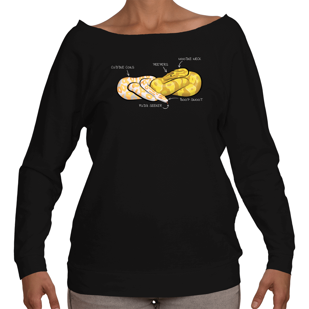 Snake Anatomy Ball Python Ladies Three Quarter Sleeve - Available in ...