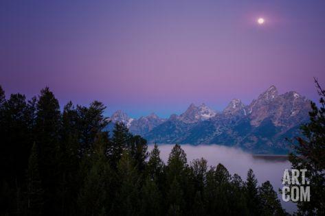 Shangri-La Beneath The Summer Moon, Wyoming Photographic Print