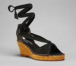 dfef42f21d8 Black Penelope espadrilles high wedge heel - black laces | shoes ...
