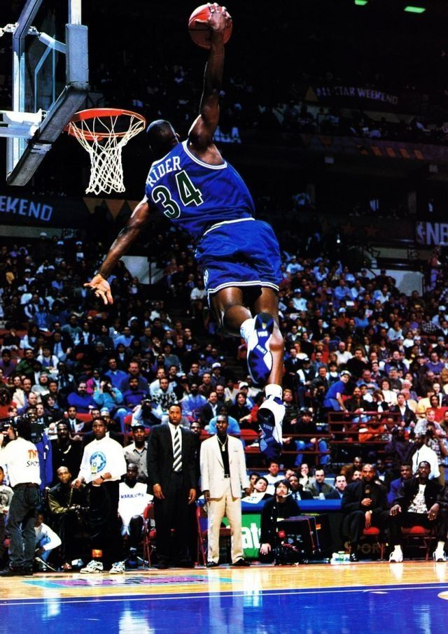 Isaiah Rider Minnesota Timberwolves Nba Slam Dunk Contest Slam