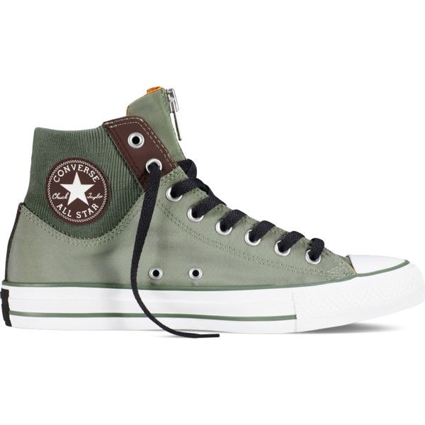 bdd64a5f58ae Converse Chuck Taylor All Star MA-1 Zip – olive submarine Sneakers ( 50) ❤  liked on Polyvore featuring shoes