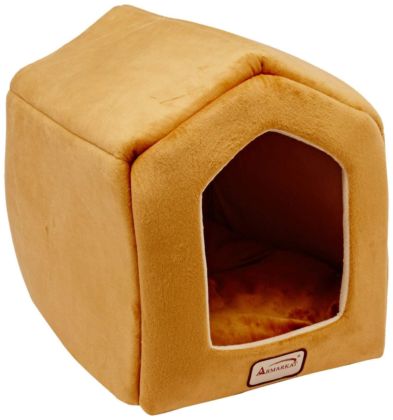 Aeromark International Armarkat Cave Shape Pet Cat Beds for Cats and Small Dogs