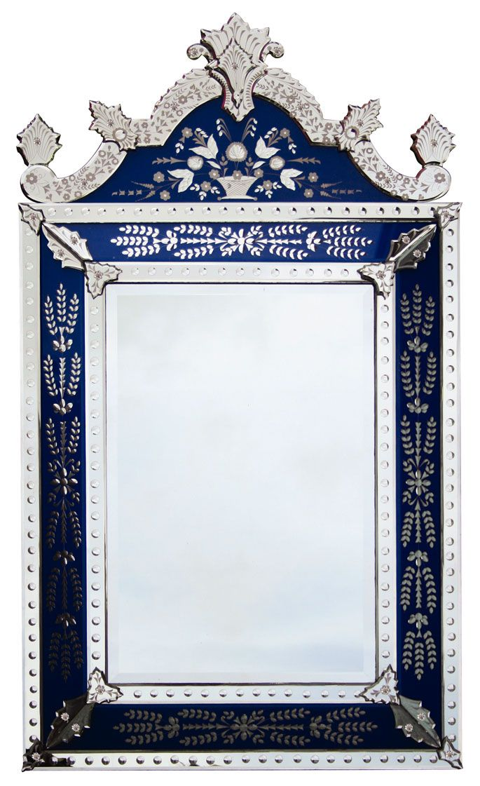 Gorgeous , large, Venetian Mirror. Love this blue! | Look At You ...