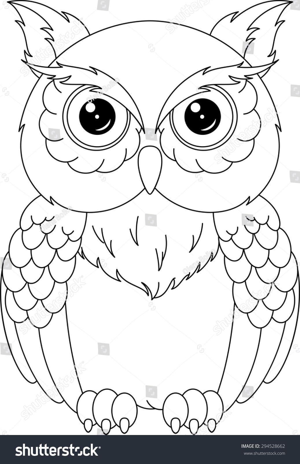 Owl coloring page Imágenes de búho Lechuza dibujo Animales para pintar