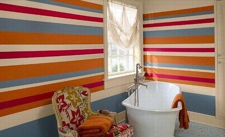 Cómo Pintar Paredes a Rayas - Primera Parte | Pintar paredes, Rayas ...