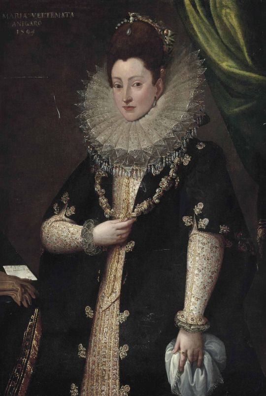 1594 Circle of Frans Pourbus the Younger - Portrait of Maria Vertemata