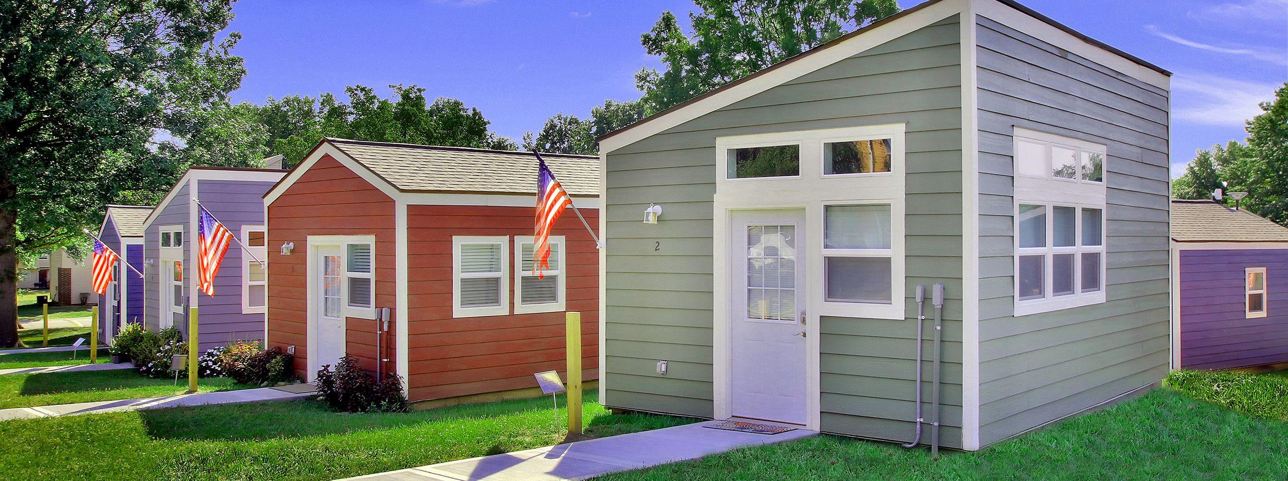 Tiny Houses For Homeless Veterans Veterans Community Project Homeless Housing Tiny House House