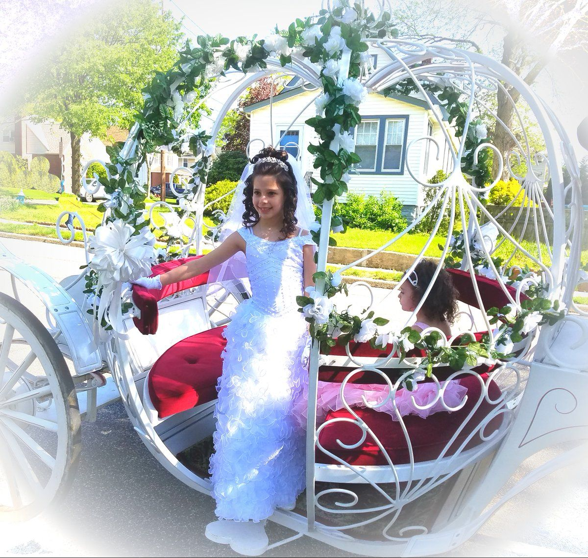 Pretty girl with our Cinderella Carriage in Floral Park