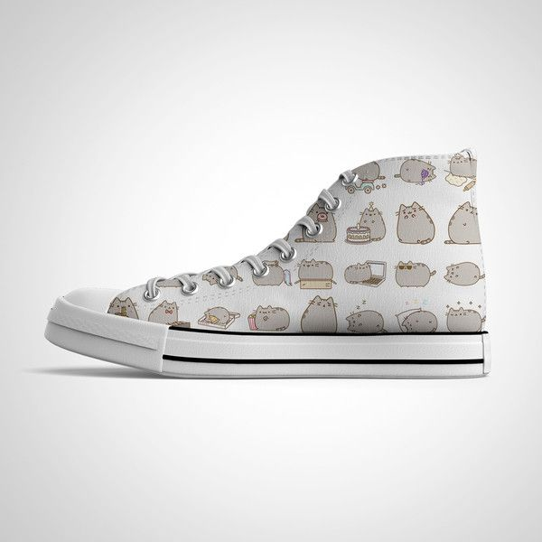 9a371b0f786f4 Pusheen High Top Shoes ❤ liked on Polyvore featuring shoes ...