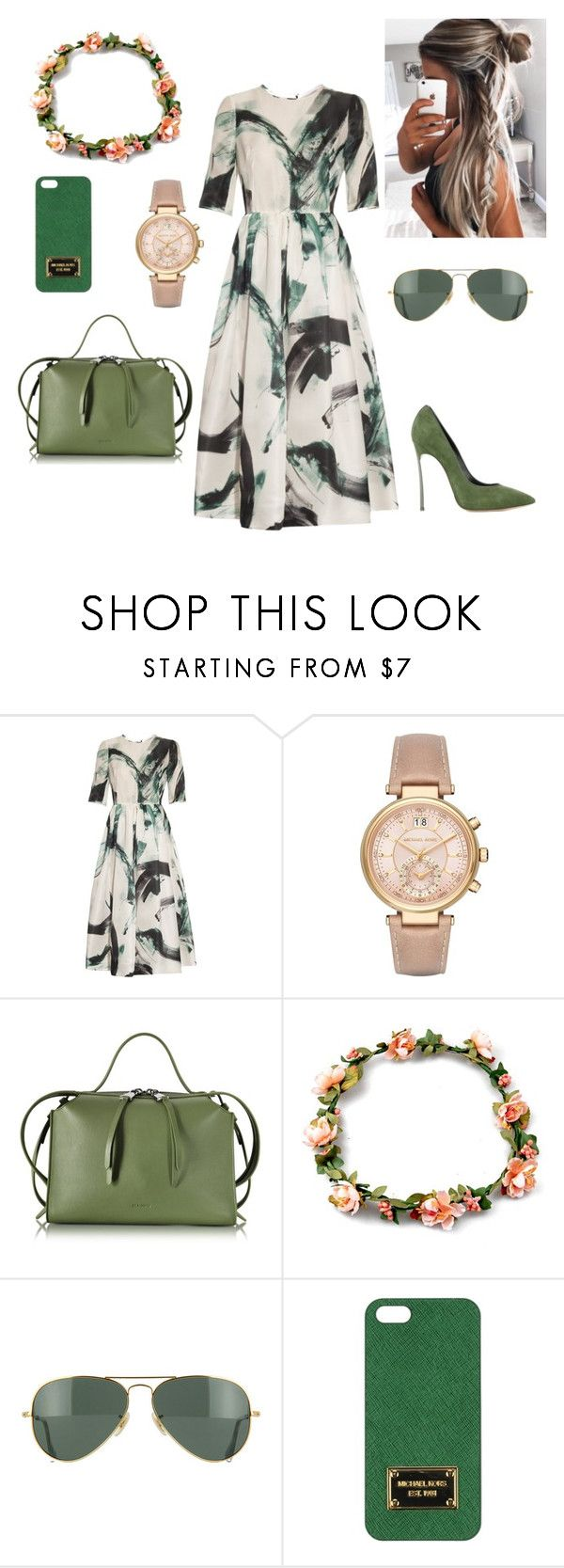 """""""Apostolic Summer OutFit"""" by churchgirl14 ❤ liked on Polyvore featuring Dolce&Gabbana, Michael Kors, Jil Sander, Ray-Ban and Casadei"""