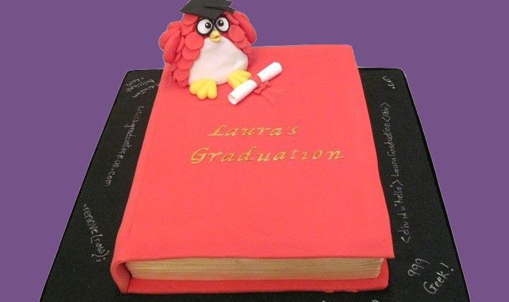 Owl cake of the day..graduation 7 the owl and the book are cool!