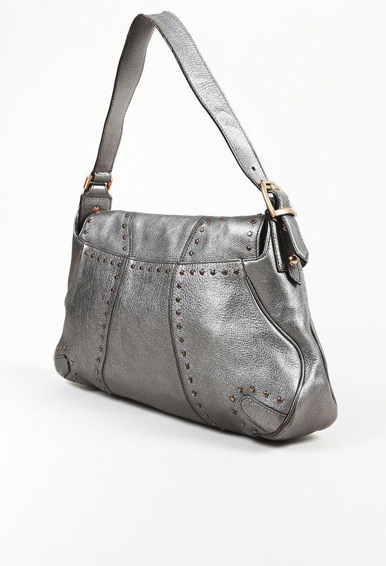 42df088e9 Gucci Silver Leather Horsebit Chain Shoulder Bag Chain Shoulder Bag, Red  Leather, Satchel,