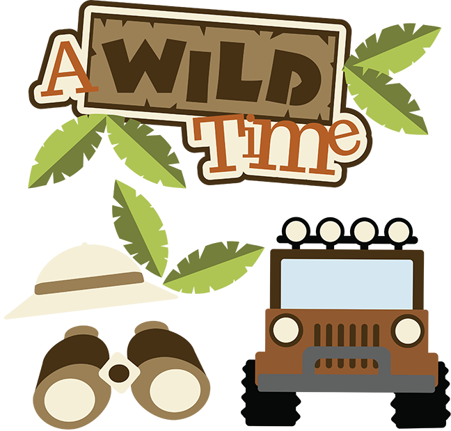 A Wild Time Svg Scrapbook Collection Safari Svg Files For