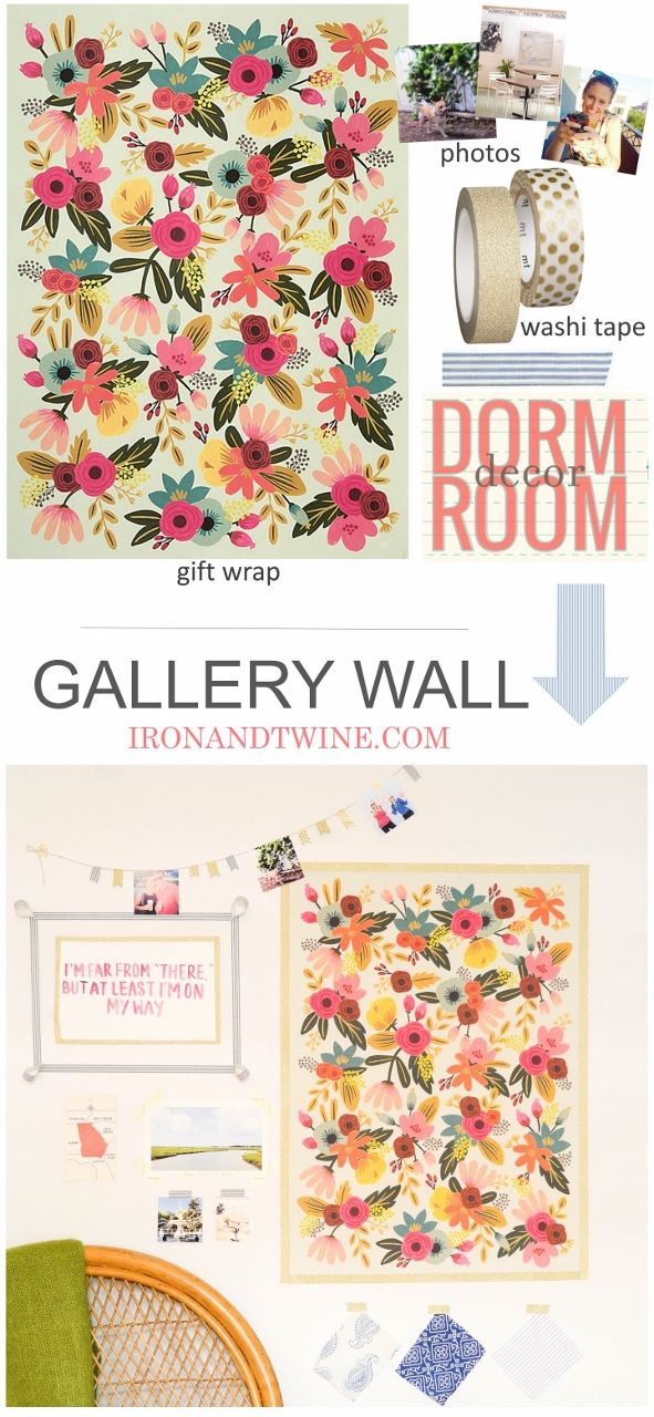 Washi Tape Gallery Wall | Dorm Room Decor - {IRON + TWINE
