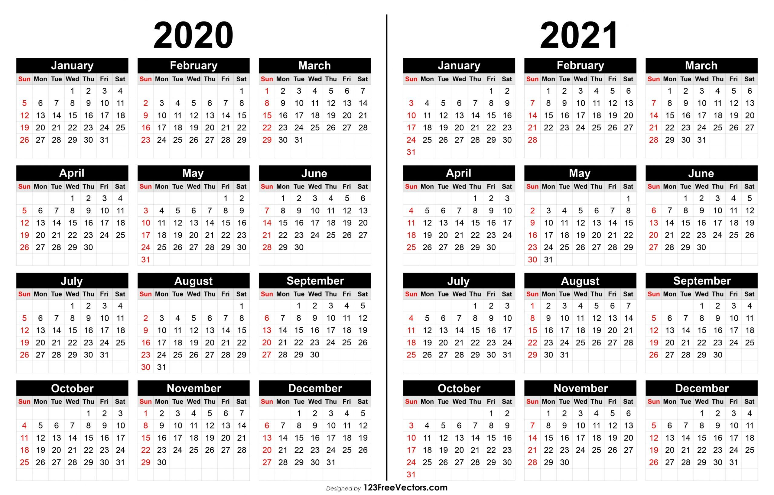 Encouraged To Be Able To My Own Website In This Moment I Ll Teach You Regarding 2020 And 2021 Cale In 2020 Calendar Printables Printable Yearly Calendar 2021 Calendar