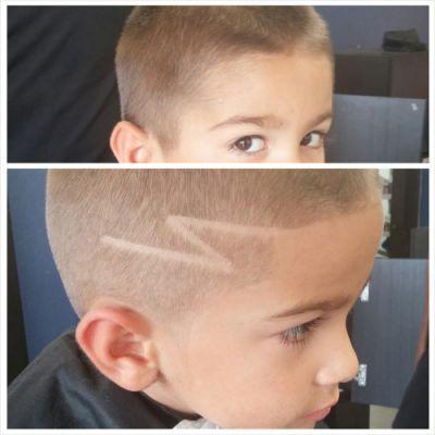 lightning bolt design hair