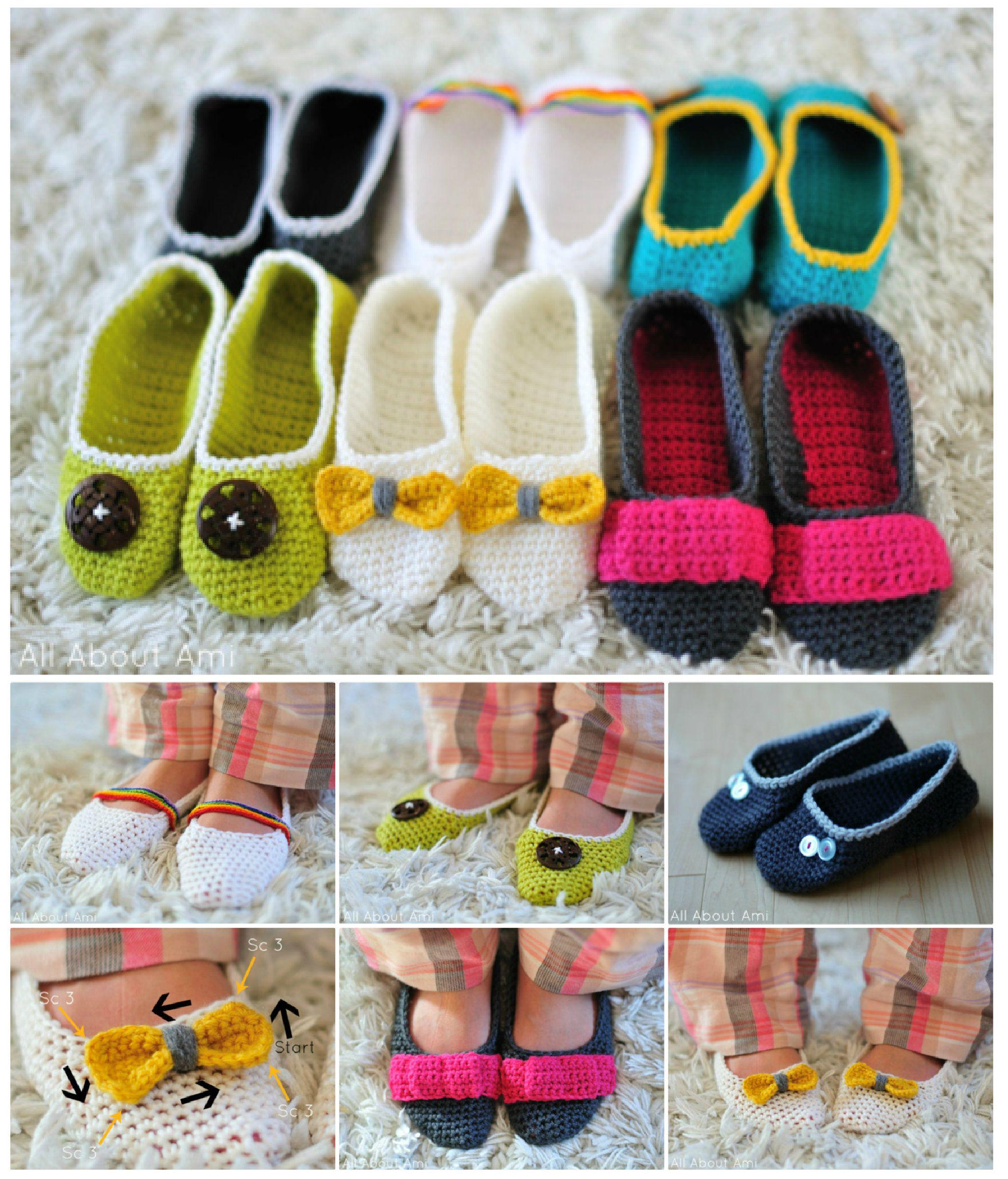 Crochet Slippers - FREE Patterns