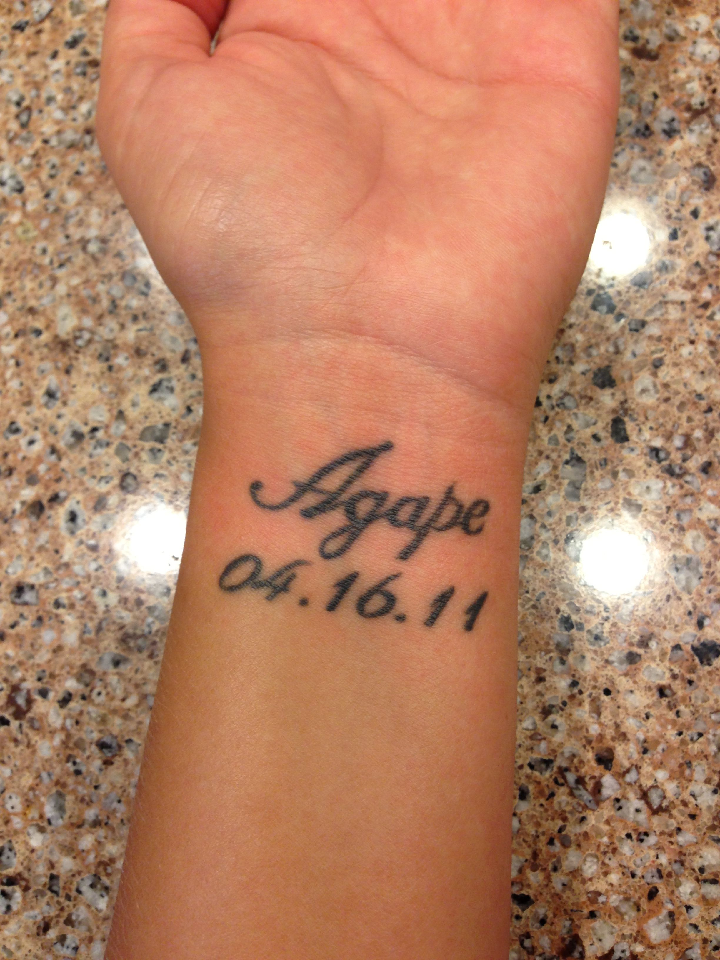 Meaningful Wedding Wrist Tattoo Tattoo designs for women