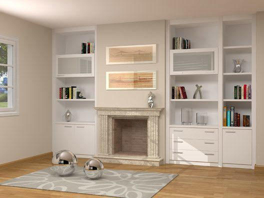 Pin de valeria tivano en biblioteca pinterest muebles chimeneas y muebles a medida - Chimeneas a medida ...