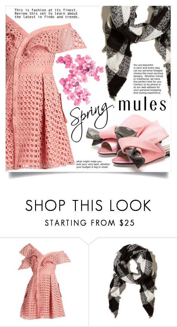 """Slip 'Em On: Mules"" by dolly-valkyrie ❤ liked on Polyvore featuring self-portrait, Hollister Co. and mules"