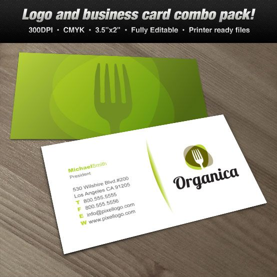 Organic Kitchen Catering Business Cards Business Card Set Restaurant Business Cards