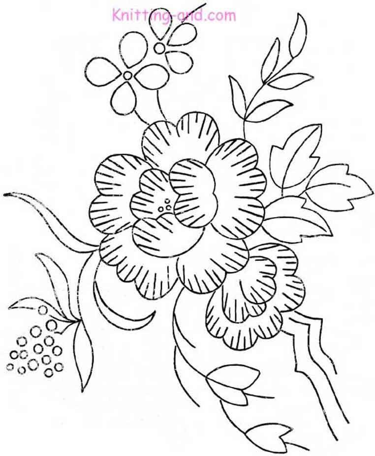 vintage flower embroidery pattern
