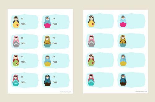 Matryoshka dolls free printables