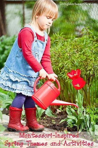 Montessori-Inspired Spring Themes and Activities at Living Montessori Now.