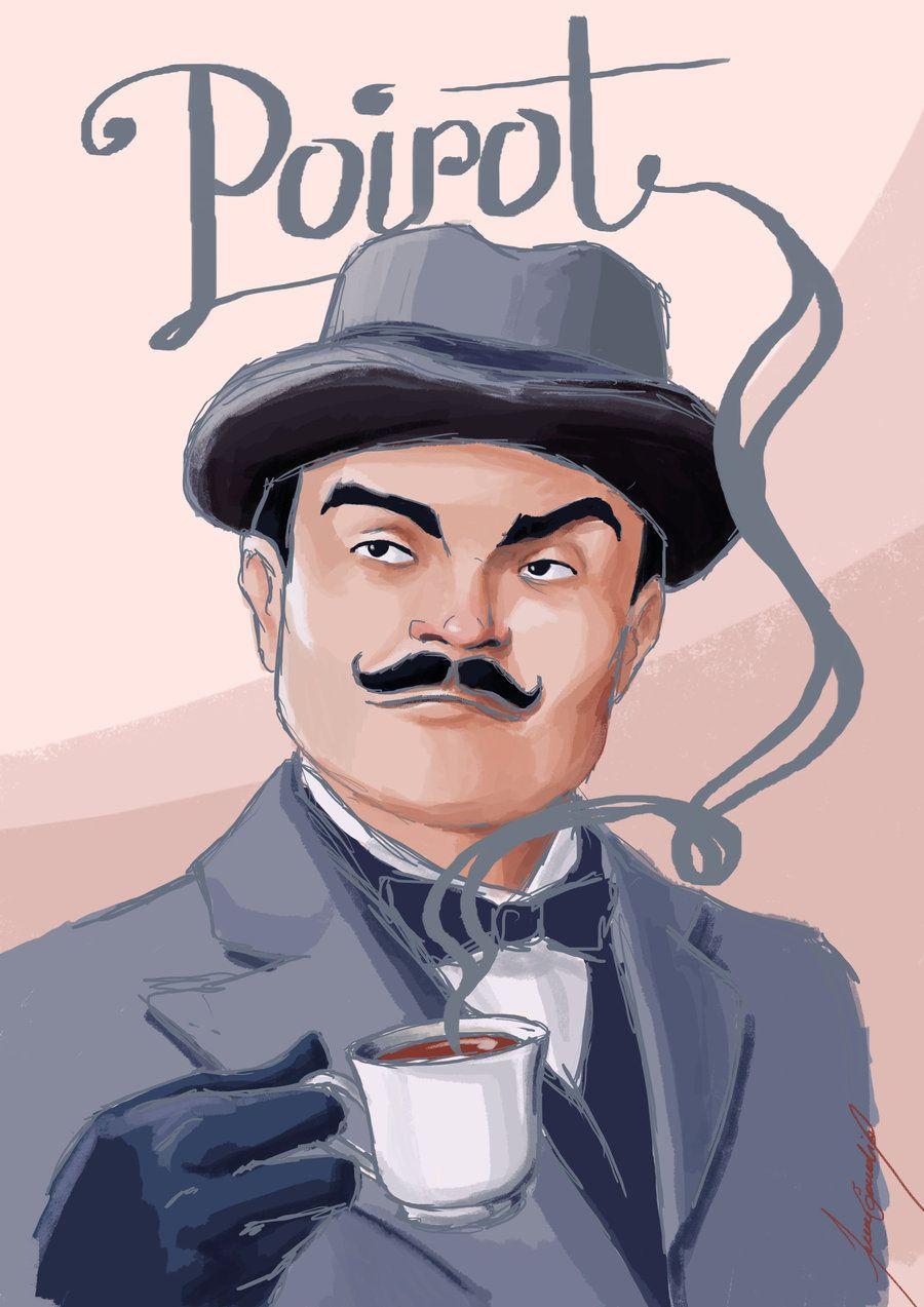 Agatha Christie and Hercule Poirot |