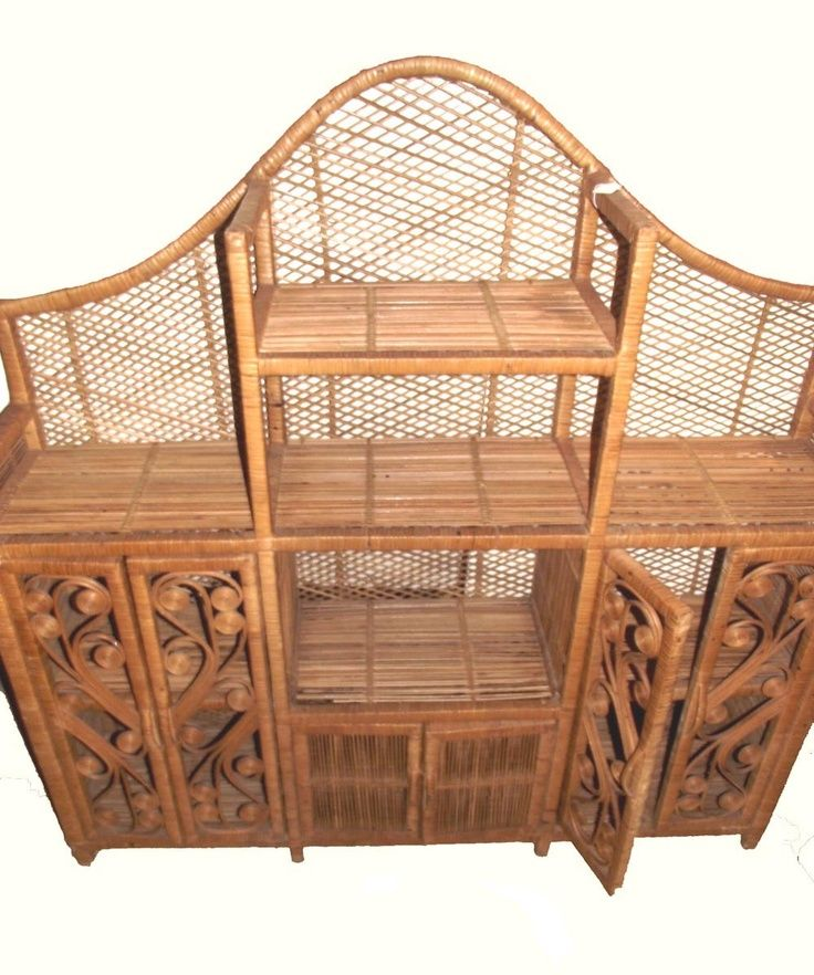 Etsy Vintage Bamboo Furniture: Etagere. Rattan Furniture. Vintage