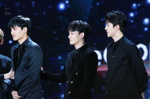 Kai, Chen, Sehun - 170114 31st Golden Disk Awards Credit: 제트. (제31회 골든디스크 어워즈)