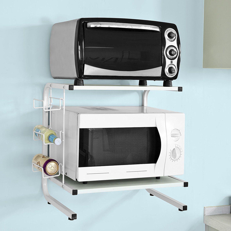 Etagere Dessus Micro Onde sobuy® frg092-w Étagères micro ondes de cuisine mini-étagère