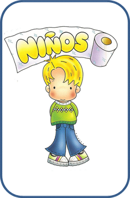 Dibujo Bano Ninos Y Ninas Para Escuelas Infantiles Gafetes Para Ninos Carteles De Bano Banos Para Ninas