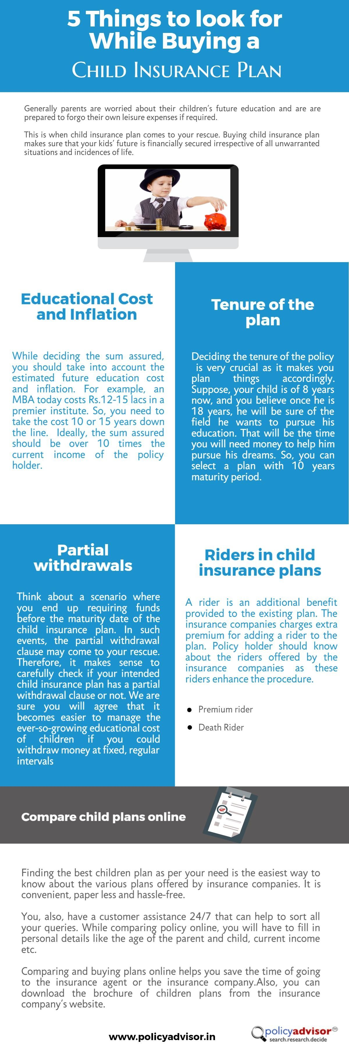 5 Things To Look For While Buying A Child Insurance Plan Http