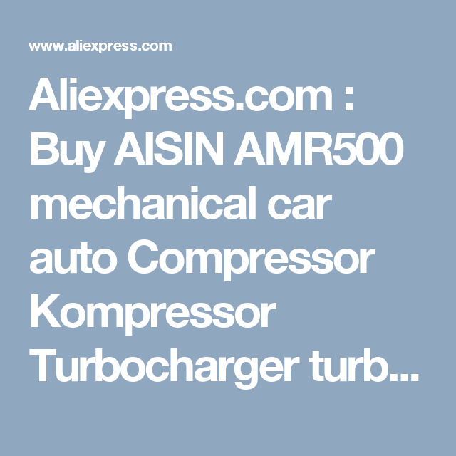 Trd Roots Supercharger: Aliexpress.com : Buy AISIN AMR500 Mechanical Car Auto