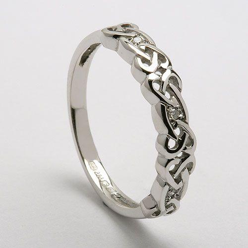 Women S Celtic Diamond Ring Celtic Rings Ltd Heart Wedding Rings Celtic Wedding Rings Celtic Wedding Bands