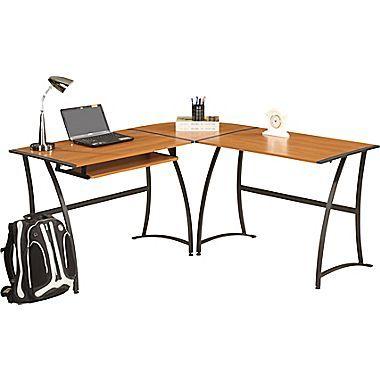 desks desk ergocraft l puter and elegant staples portable ashton shaped at photo review