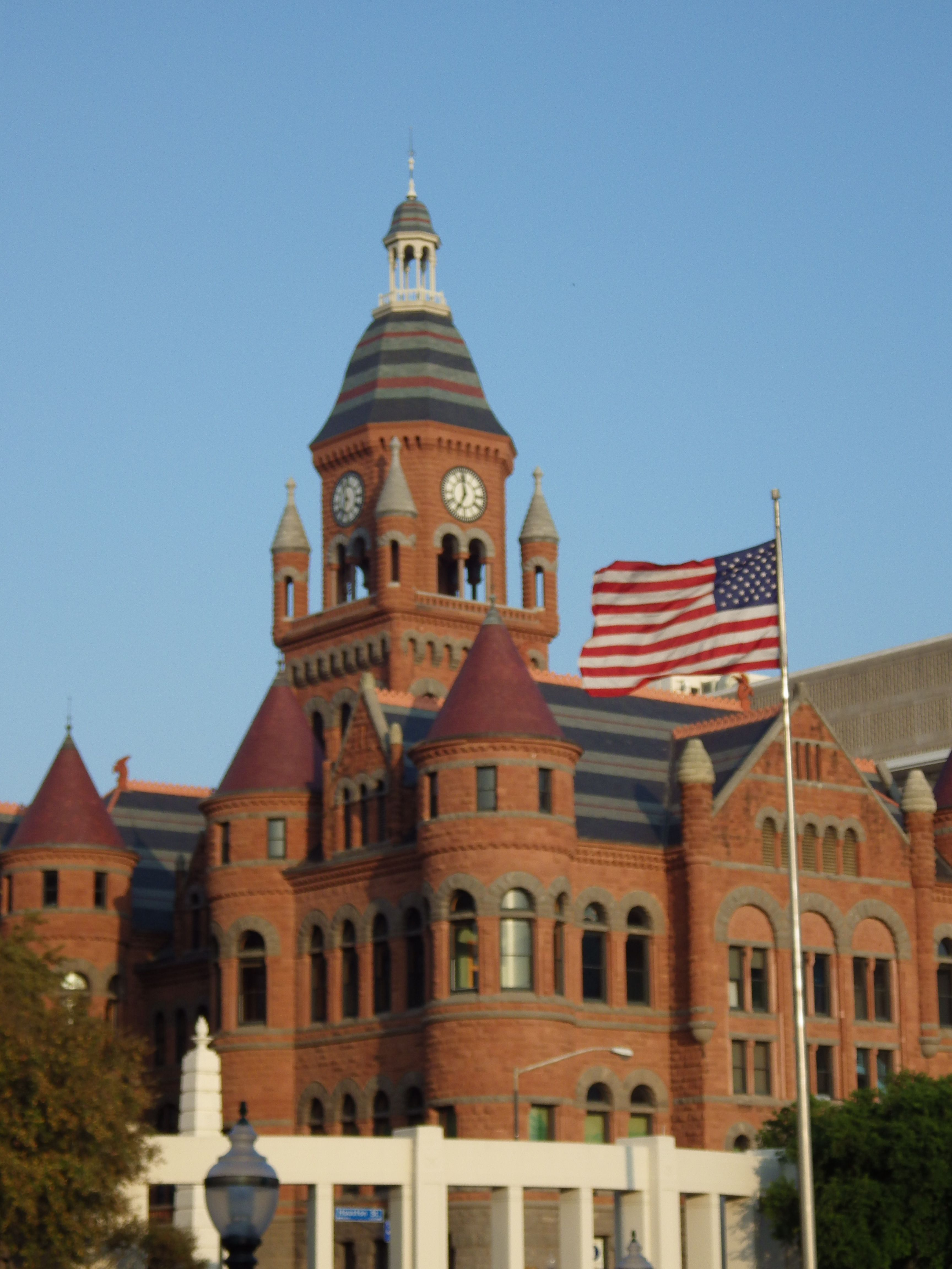 Old Red Museum located in downtown Dallas at Dealey Plaza