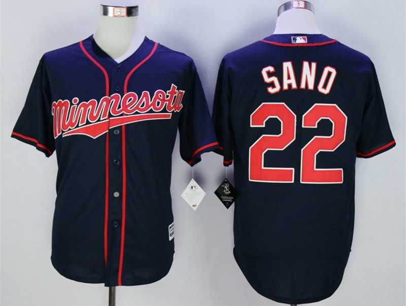 Men's Minnesota Twins #22 Miguel Sano Blue New Cool Base Jersey