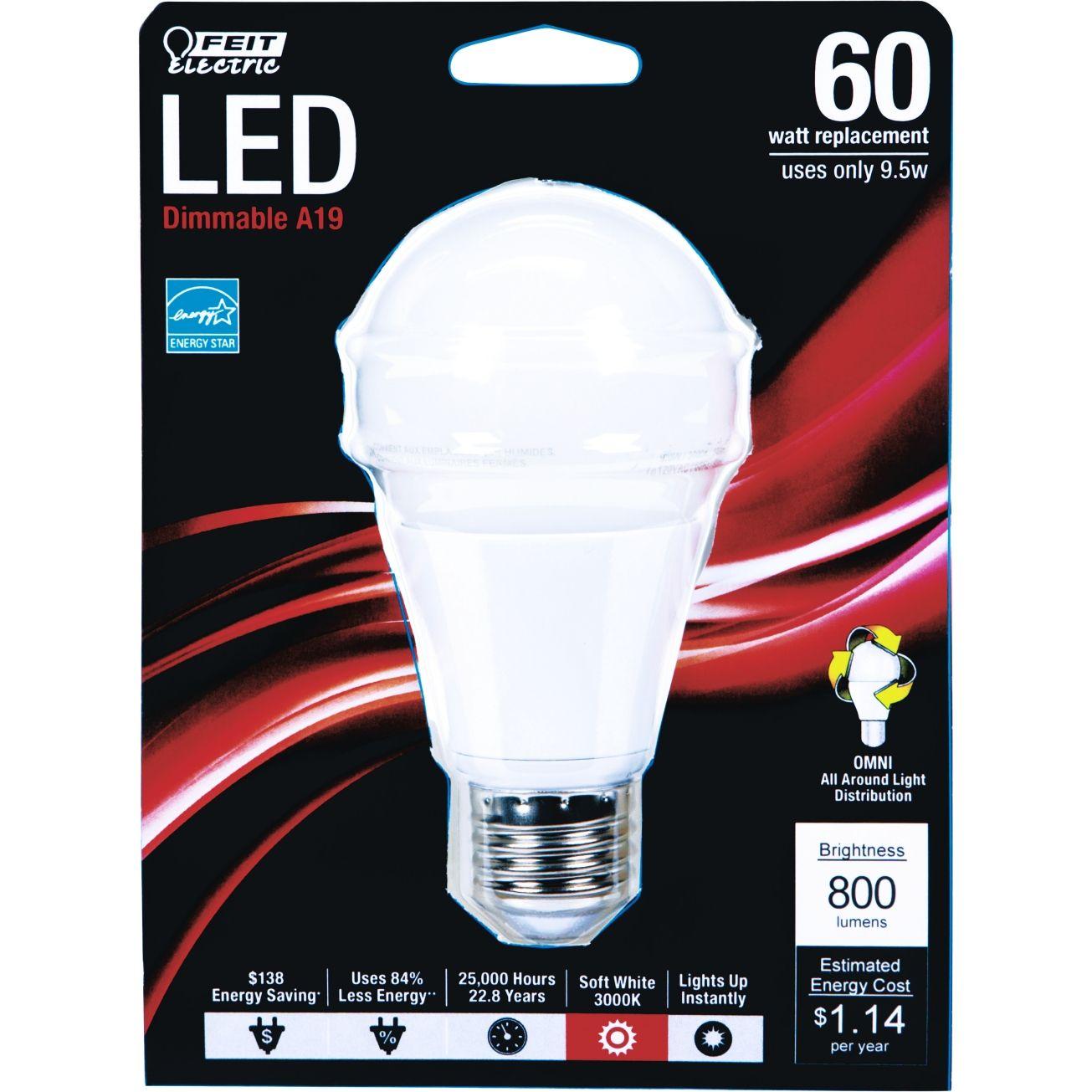 Feit Led Light Bulb 9 5 Watts Soft White Medium Base Bulbs Ace Hardware