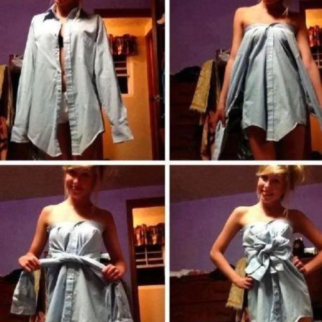 Such a cute, fun and easy idea!! (it would be cute with jeans!)
