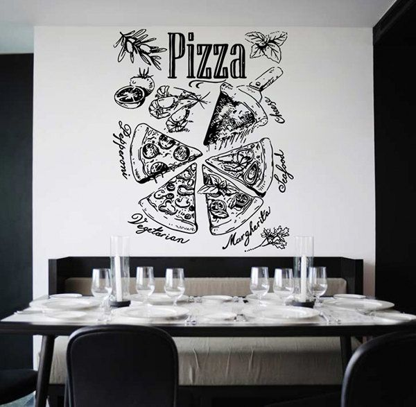 Kik wall decal sticker pizza ingredients pizzeria