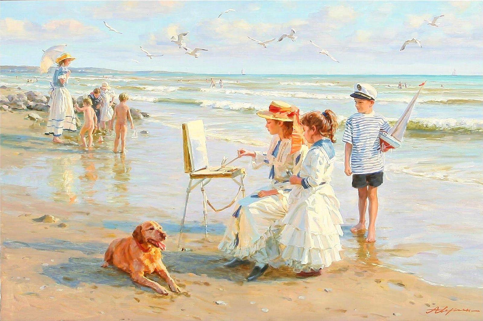 стол пляж картинка художника стильные, они создадут